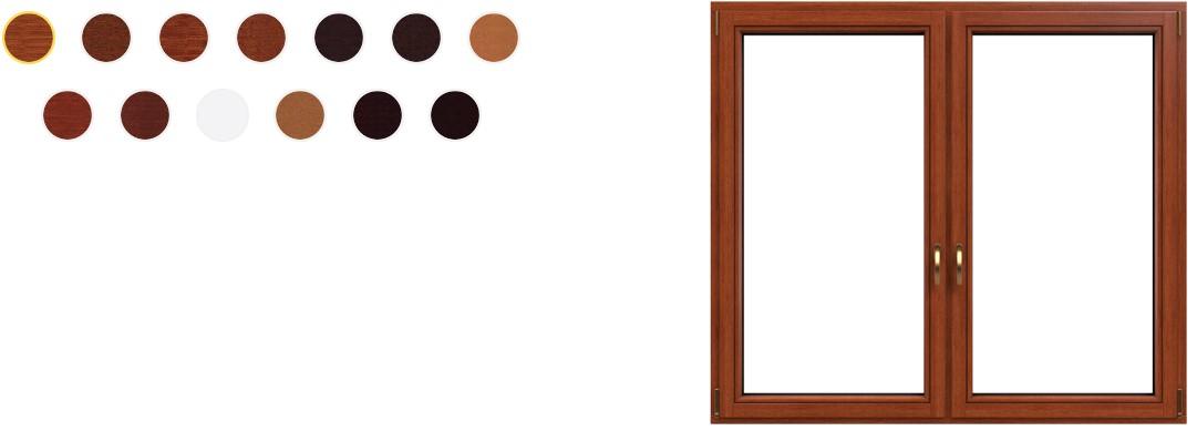 kolorytyka okna drewniane