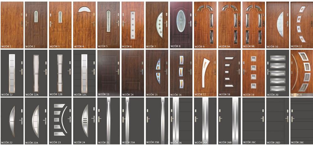 wzory drzwi